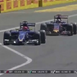 Max Verstappen overtakes Felipe Nasr. Italian Grand Prix Monza 2015.