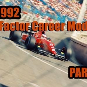 F1 1992 rFactor Career Mode Part 2