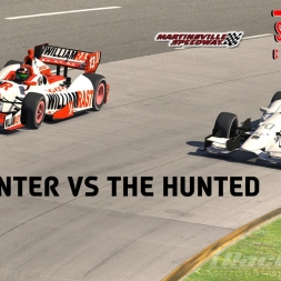 """iRacing: The Hunter vs The Hunted"" (DW12 Short Oval Challenge at Martinsville Speedway)"