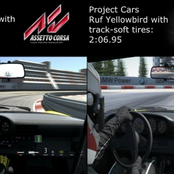 Project CARS vs Assetto Corsa: Ruf Yellowbird Comparison at Nurburgring (Soft and Hard Tires)