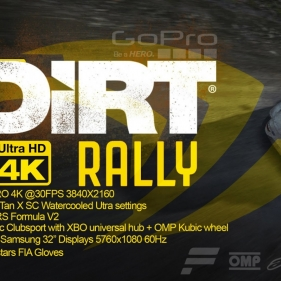 "DIRT Rally UHD 4K / Triple 32"" screens with Go Pro black 4K / 10K Gaming Rig!"