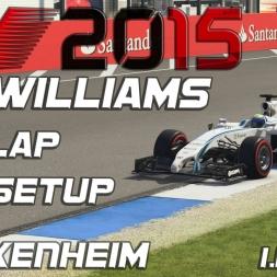 F1 2015 Williams Hotlap + Setup Hockenheim (1.14,779) [PC] [60FPS]