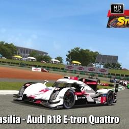 Audi R18 E-tron Quattro @ Brasilia (9 Laps Race) Helmet Effect - Stock Car Extreme 60FPS