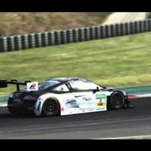 "AC • Audi R8 LMS Ultra ""C. Abt"" @ Barcelona GP   EL flying start"