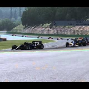 Assetto Corsa AI Test, Lotus 98T on SPA Francorchamps