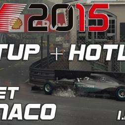 F1 2015 Setup + Hotlap Monaco (wet) (1.23,901) [PC] [60FPS]