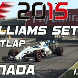 F1 2015 Williams Setup + Hotlap Canada (1.11,789) [PC][60FPS]