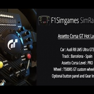 F1Simgames  Assetto Corsa Audi R8 LMS GT3 @ Barcelona