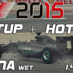 F1 2015 Setup + Hotlap China (wet) (1.46,854) [PC]
