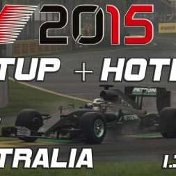 F1 2015 Setup + Hotlap Australia (wet) (1.34,262) [PC]