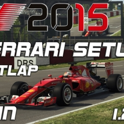 F1 2015 Ferrari Setup + Hotlap Spain (1.21,616)[PC][60FPS]
