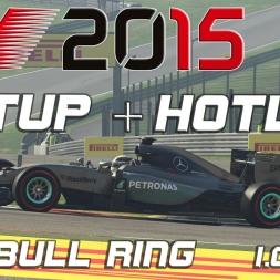 F1 2015 Setup + Hotlap Red Bull Ring (1.06,477)[PC][60FPS]