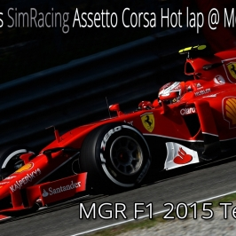 F1Simgames Assetto Corsa MGR F1 2015 @ Monza