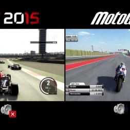 F1 2015 vs MotoGP 15 - Austin, Texas