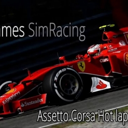 F1Simgames Assetto Corsa Ferrari SF 15T @ SPA (New Camera View)