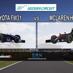 iRacing | Mclaren Honda MP4-30 (vs) Williams Toyota FW31 @ Suzuka