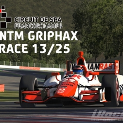 """iRacing: NTM Griphax"" (Verizon IndyCar Winter Series Round 13 at Circuit de Spa Francorchamps)"