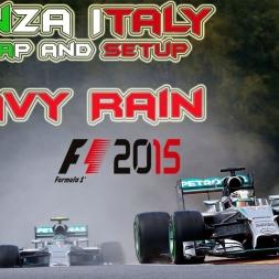 F1 2015   Monza wet setup and Hotlap HEAVY RAIN!!