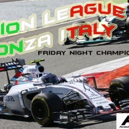 F1 2015 | 100% Race |Fusion League | Monza Italy - ANOTHER ROLLING START!!