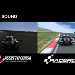 Assetto Corsa VS RaceRoom Racing Experience | MP4 12C GT3 @ Algarve