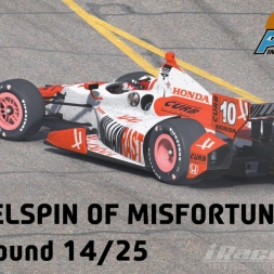 """iRacing: Wheelspin of Misfortune"" (IndyCar Winter Series Week 14: Phoenix International Raceway)"