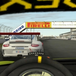 Flat6 GT3 Cup @ Sebring Driver's View - rFactor 2 60FPS