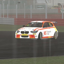 SIMCO BTCC 2016 | Wet Test Race | Silverstone National | BMW 125i BTCC | Balazs Toldi OnBoard
