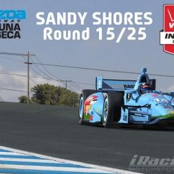"""iRacing: Sandy Shores"" (IndyCar Winter Series Round 15: Mazda Raceway Laguna Seca)"