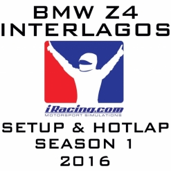 iRacing BMW Z4 Blancpain @ Interlagos | Setup & Hotlap 1'32.312 | Season 1 - 2016