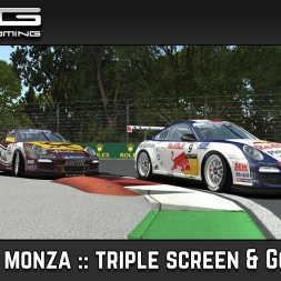 rFactor 2  :: Monza :: Flat 6 Series :: Triple screen :: GoPro head cam test.