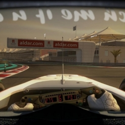 RD19: BMW Sauber C9 @ Yas Marina (Dry & Wet) Helmet Effect - F1 2010 60FPS