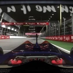 RD15: Toro Rosso STR5 @ Marina Bay (Dry & Wet) Helmet Effect - F1 2010 60FPS