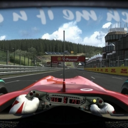 RD13: Ferrari F10 @ Spa Francorchamps (Dry & Wet) Helmet Effect - F1 2010 60FPS