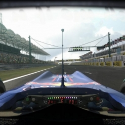 RD12: Red Bull RB6 @ Hungaroring (Dry & Wet) Helmet Effect - F1 2010 60FPS