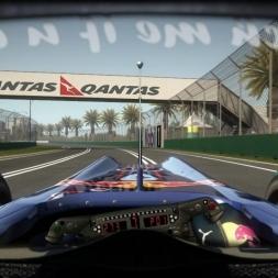 RD2: Red Bull RB6 @ Melbourne (Dry & Wet) Helmet Effect - F1 2010 60FPS