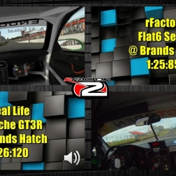 rFactor 2 vs Real Life - Flat6 Series @ Brands Hatch - rFactor 2 60FPS