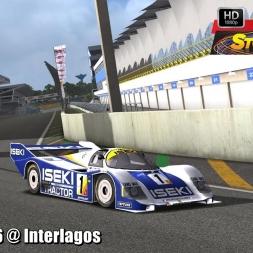 Porsche 956 @ Interlagos Driver's View - Stock Car Extreme 60FPS