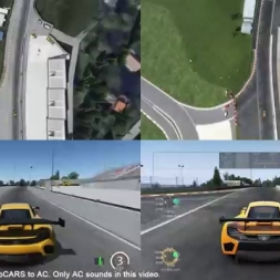 Assetto Corsa & Project CARS: Nordschleife - Top-Down View Comparison (1 Lap)