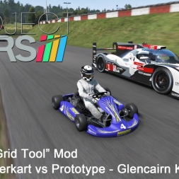 Project CARS: Custom Grid Tool Mod - Kart, Superkart vs Prototype @ Glencairn Kart Track
