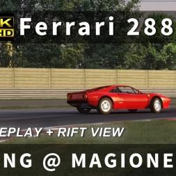 Ferrari 288 GTO Sliding @ Magione in Assetto Corsa [4K Video | Oculus Rift DK2 (Un-Warped) Overlay]