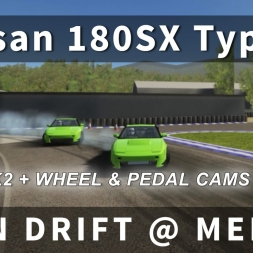 Nissan 180SX Type-X Online Drift Practice [DK2 | Multi Cam Test + T300GTE in Assetto Corsa]
