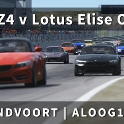BMW Z4 v Lotus Elise @ Zandvoort | Online Race 1 | ALOOG1 | Assetto Corsa [Oculus Rift DK2 + T300RS]