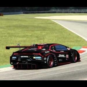 Huracan GT3 DHL carbon artcar Nürburgring sprint lap