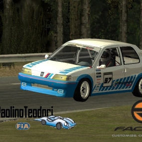 rFactor | ON THE LIMIT! Mangano Giorgio @ Coppa Paolino Teodori Peugeot 106 E1-1400