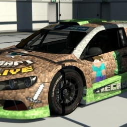 MINECRAFT VW SCIROCCO GC10 V6 SKIN | Assetto Corsa | Mod-Showcase [HD60]