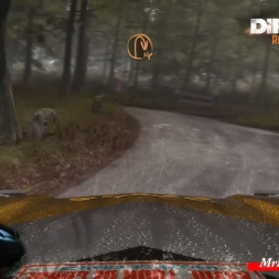 DiRT Rally Germany Waldavfstiec rain Opel Manta 400 wheel g25 60fps