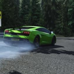 RWD Lambo Drift Lake Louise 2.0 Follow Cam | Assetto Corsa [Oculus Rift DK2 + T300RS]