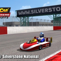Superkart @ Silverstone National Driver's View - Stock Car Extreme 60FPS