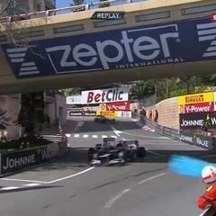 Pastor Maldonado drives into Sergio Perez 2012 Monaco GP FP3