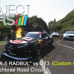 Project CARS: Custom Grid Mod - Mazda MX-5 RADBUL vs GT3 @ Bannochbrae (Day to Night)